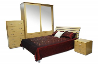 Suite Bedroom set Light Oak
